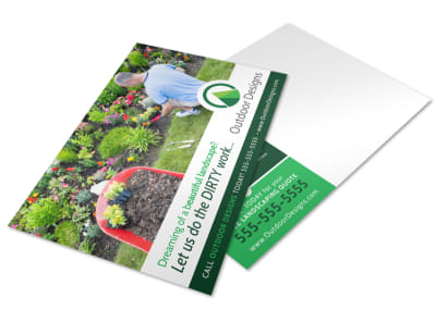 Dream Landscaping Postcard Template preview