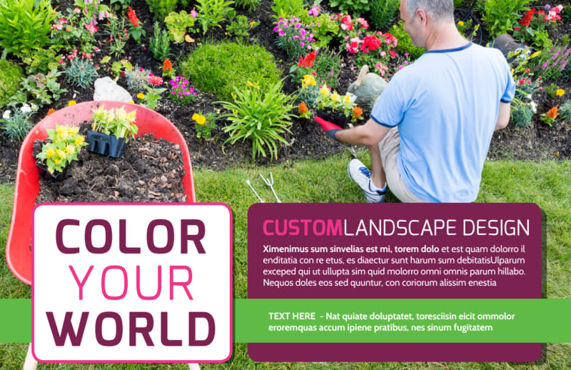 Custom Landscape Design Postcard Template Preview 2