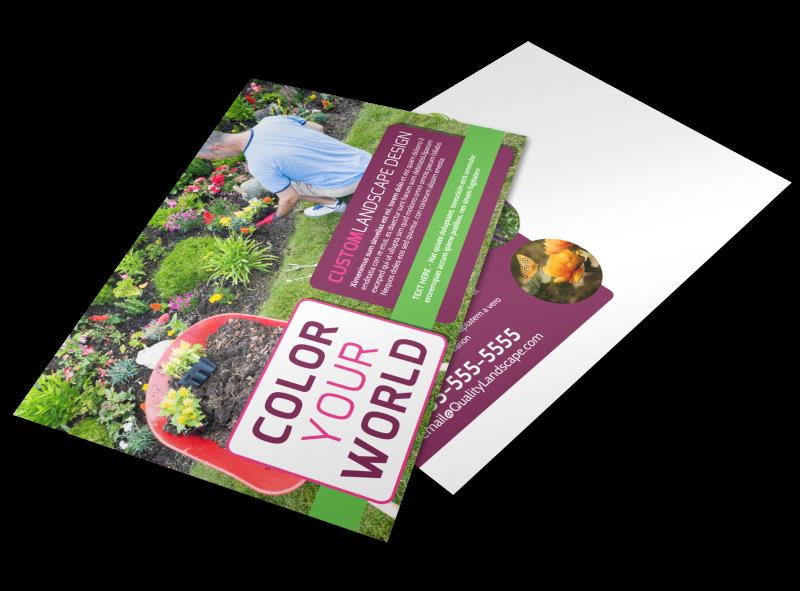 Custom Landscape Design Postcard Template Preview 1