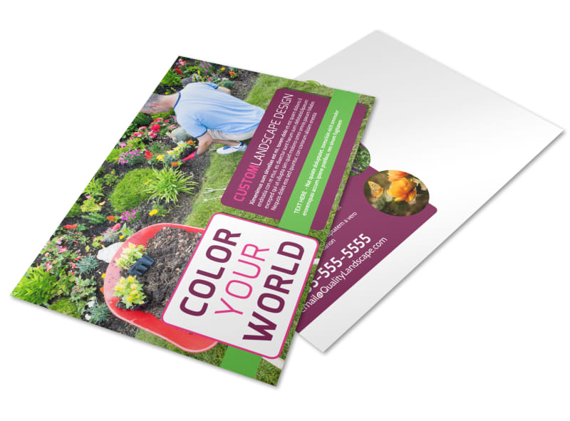 Custom Landscape Design Postcard Template