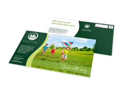 Acres Landscaping EDDM Postcard Template preview