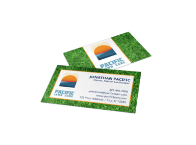 Vibrant Lawn Care Business Card Template preview