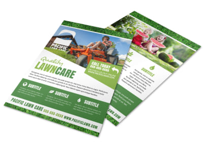 Classic Lawn Care Flyer Template preview