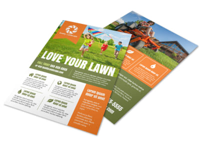 Love Lawn Care Flyer Template preview