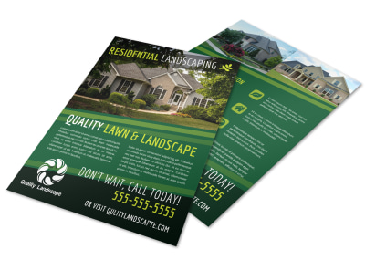 Quality Residential Landscape Flyer Template preview