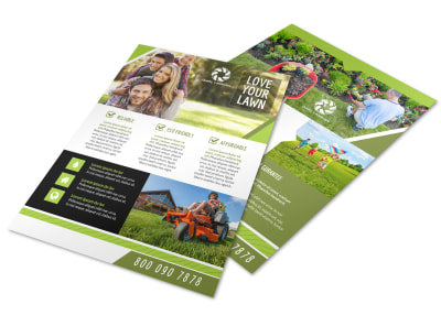 Reliable Lawn Flyer Template preview
