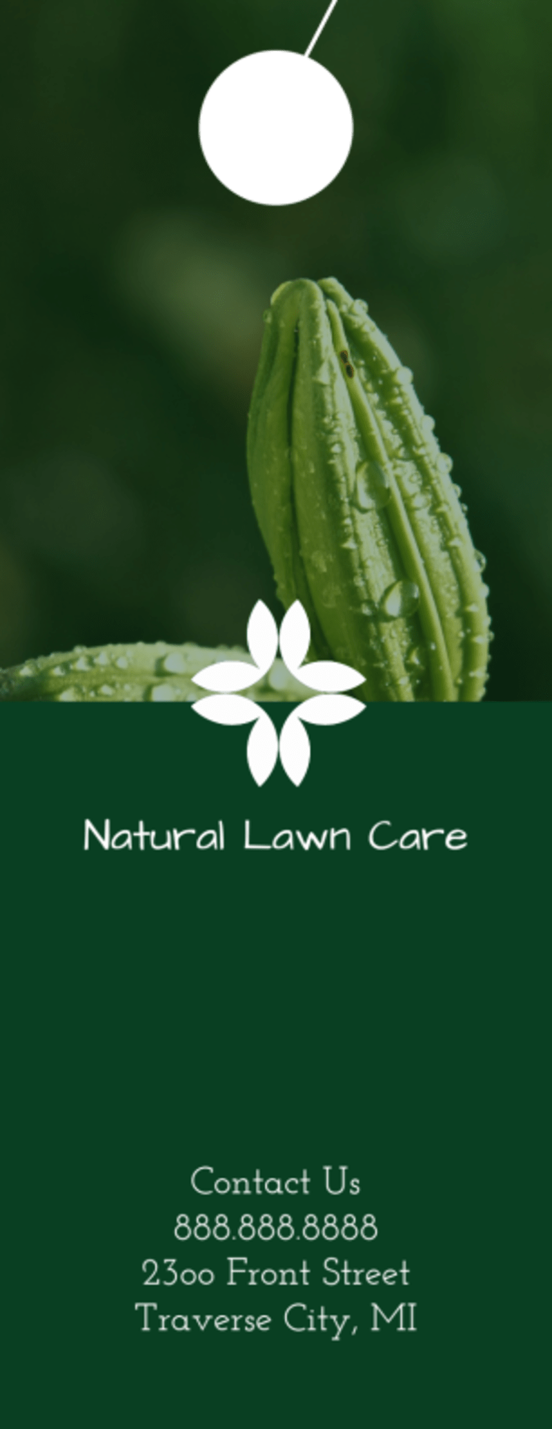 Organic Lawn Care Door Hanger Template Preview 3