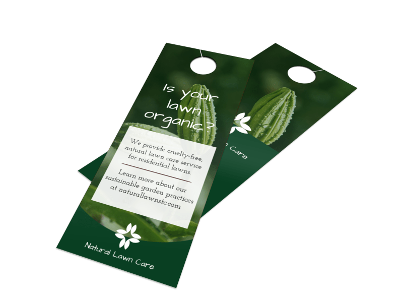 Organic Lawn Care Door Hanger Template Preview 1
