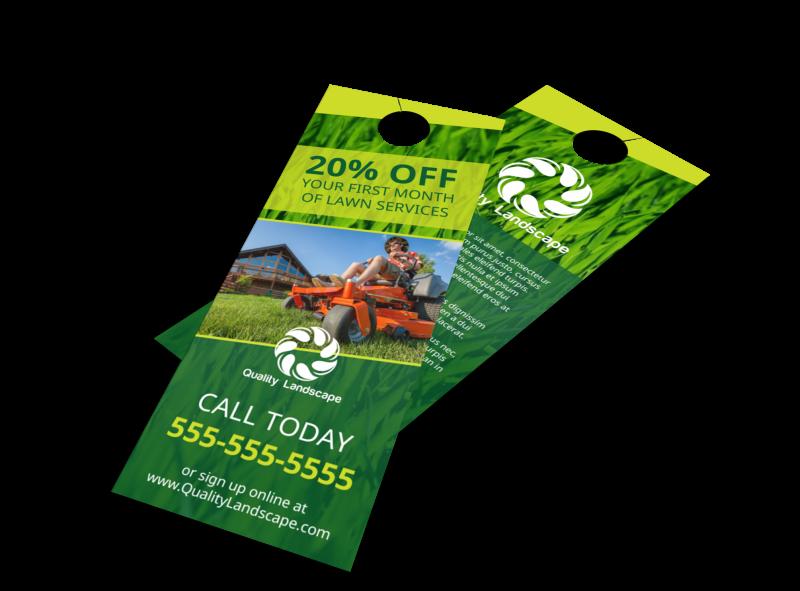 Lawn Service Promo Door Hanger Template Preview 1