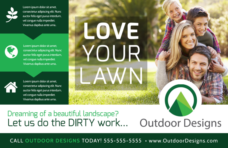 Spring Lawn Care Postcard Template Preview 2