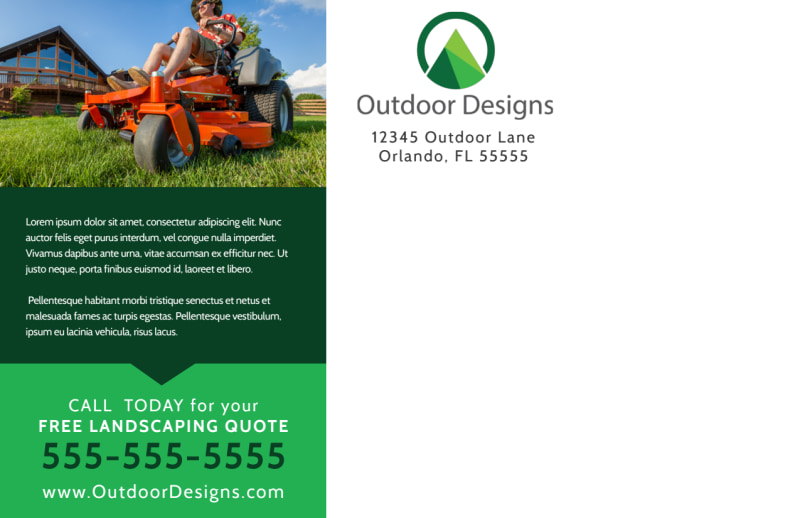 Spring Lawn Care Postcard Template Preview 3