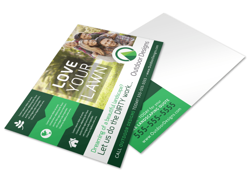 Spring Lawn Care Postcard Template Preview 1