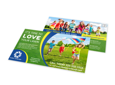 Lawn Care Outreach EDDM Postcard Template