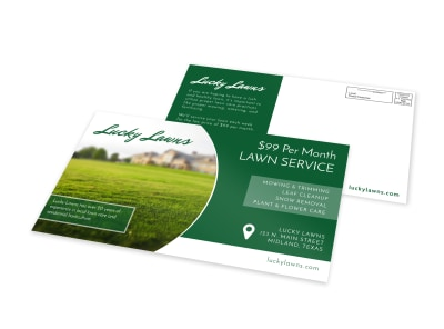 Lucky Lawn Care EDDM Postcard Template preview