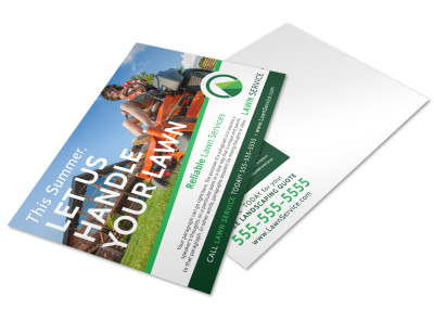 Summer Lawn Care Postcard Template preview