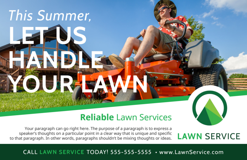 Summer Lawn Care Postcard Template Preview 2