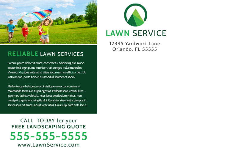 Summer Lawn Care Postcard Template Preview 3