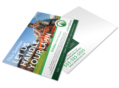 Lawn Care Postcard Templates Template Preview