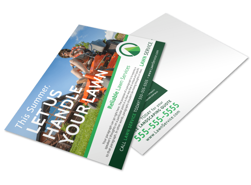 Summer Lawn Care Postcard Template Preview 1