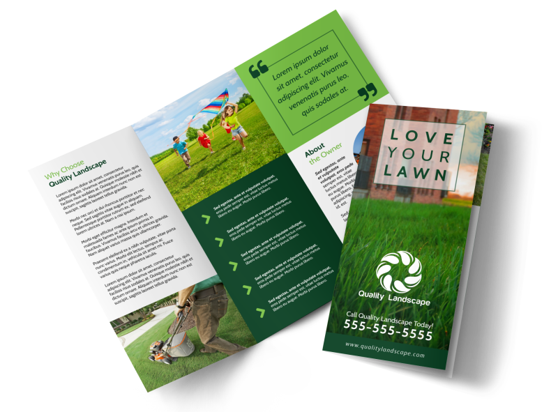Lawn Care Business Tri-Fold Brochure