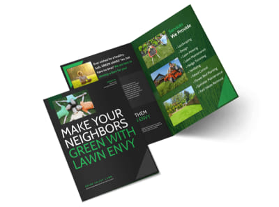 Lawn Care Envy Bi-Fold Brochure Template preview