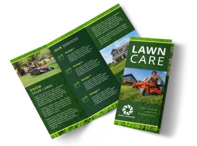 Classic Lawn Care Tri-Fold Brochure Template