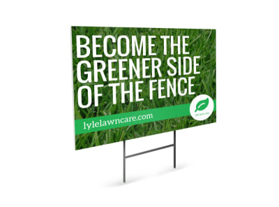 Green Lawn Care Yard Sign Template