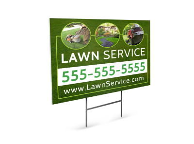 Lawn Service Yard Sign Template preview