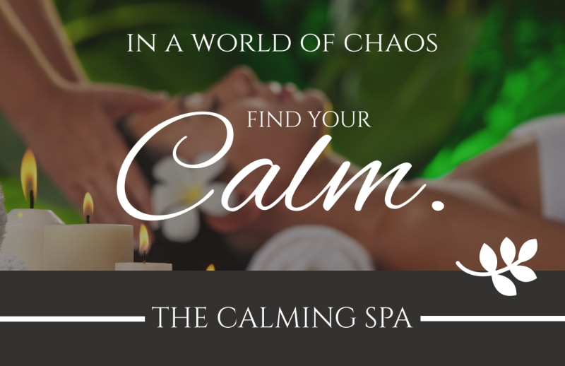 Calm Spa Postcard Template Preview 2
