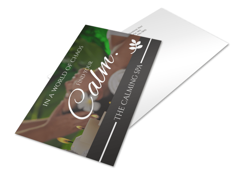 Calm Spa Postcard Template Preview 1