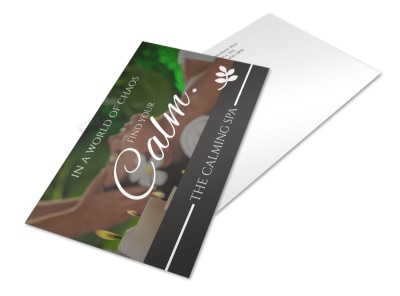 Calm Spa Postcard Template preview