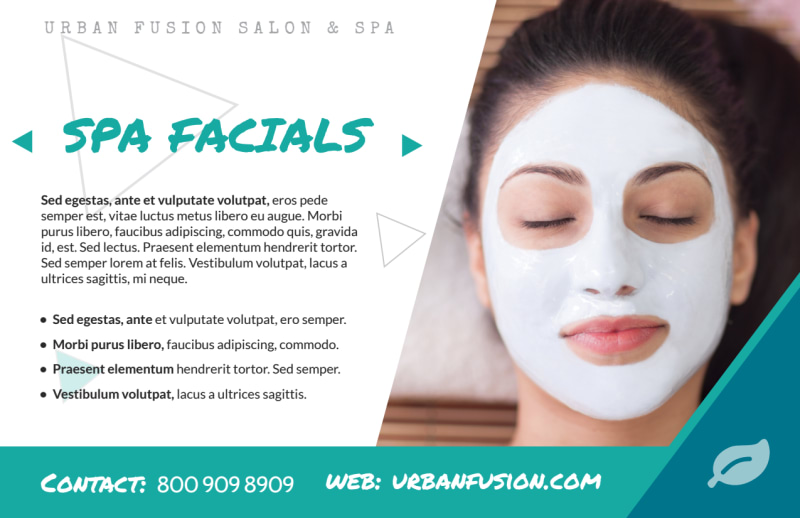 Spa Product Special Postcard Template Preview 3