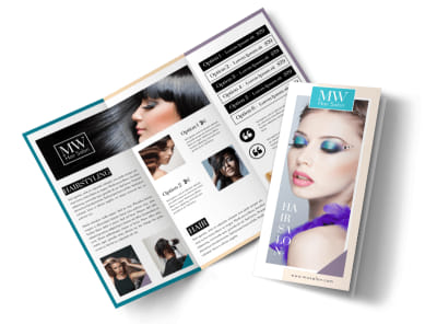 Awesome Hair Salon Tri-Fold Brochure Template preview
