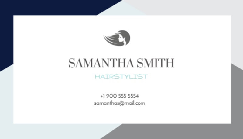 Hair Salon Stylist Business Card Template Preview 2