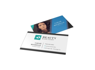 Beauty Hair Salon Business Card Template preview