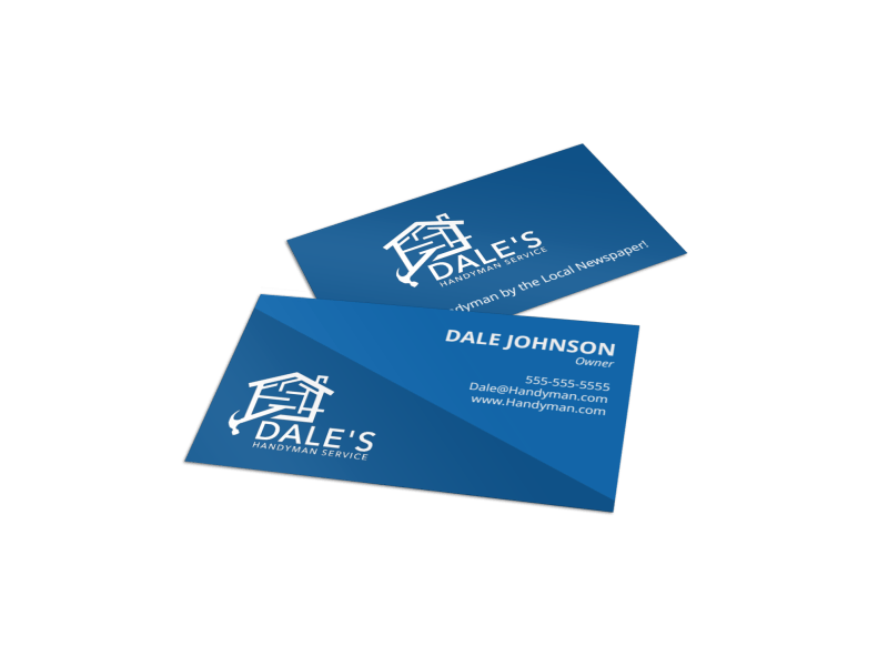 Blue Handyman Business Card Template Preview 1