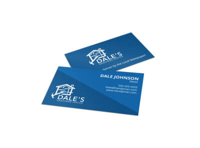 House home business card templates mycreativeshop blue handyman business card template friedricerecipe Gallery