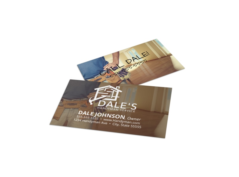 Handyman Owner Business Card Template