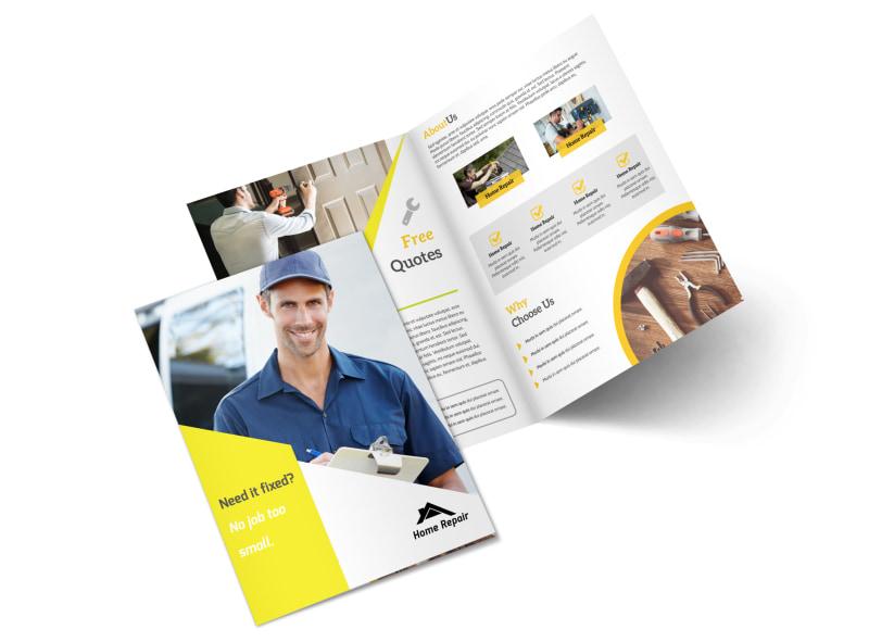 Fix It Handyman Bi-Fold Brochure Template