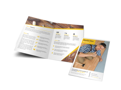 Professional Handyman Bi-Fold Brochure Template preview