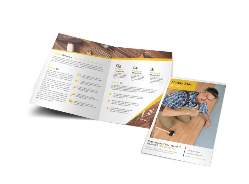 Professional Handyman Bi-Fold Brochure Template