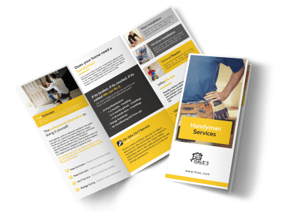 Handyman Brochure Templates Template Preview