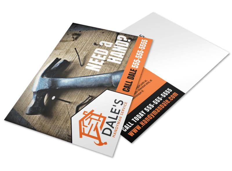 Pro Handyman Postcard Template