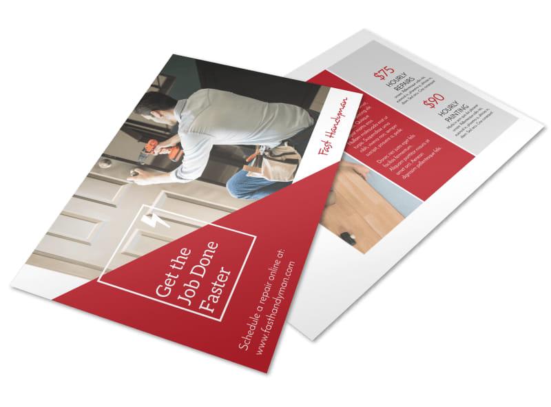 Handyman Professional Postcard Template