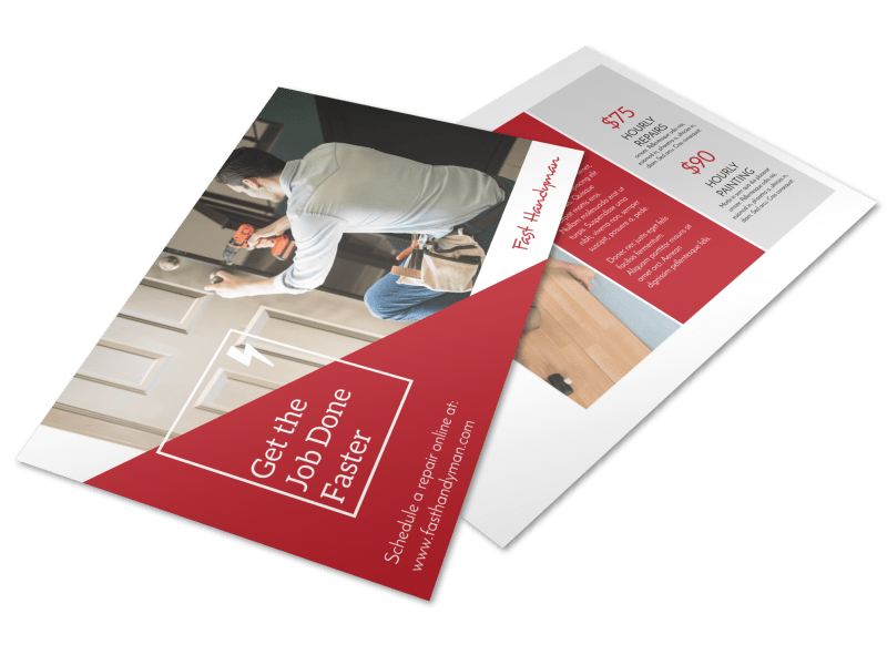 Handyman Professional Postcard Template Preview 1