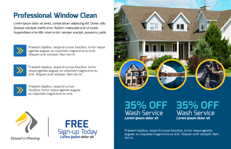 Home Pressure Washing Postcard Template Preview 3