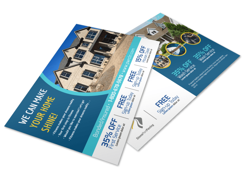 Home Pressure Washing Postcard Template Preview 1