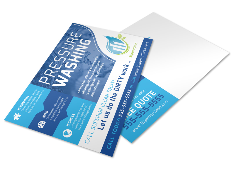 Cool Pressure Washing Postcard Template Preview 4