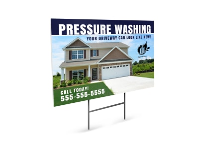 Driveway Pressure Washing  Yard Sign Template preview