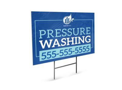 Pressure Washing Yard Signs Template Preview